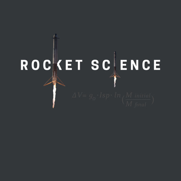 """Rocket Science"" Womens Slim-Fit Premium Tee - Charcoal"