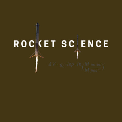 """Rocket Science"" Womens Premium Tee - Army Green"