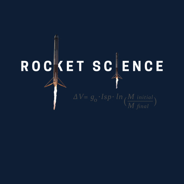 """Rocket Science"" Womens Slim-Fit Premium Tee - Navy"