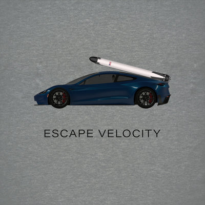 """Escape Velocity"" Premium Tee (Blue Roadster)"