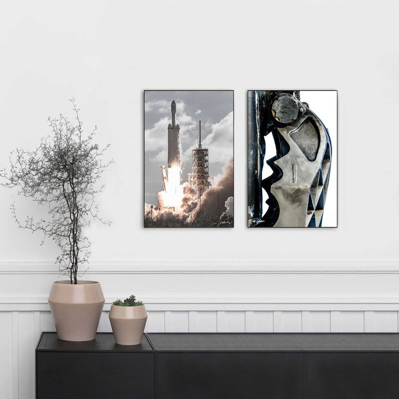 Limited Edition SpaceX Falcon Heavy 11x17 hand signed prints