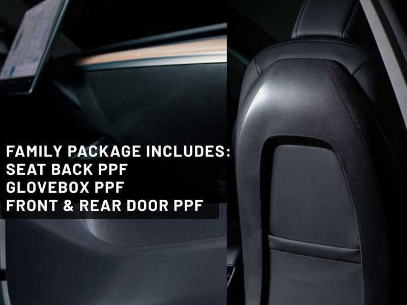 Tesla Model 3 & Y Seat Back PPF Protection (Family/Kids Pack)