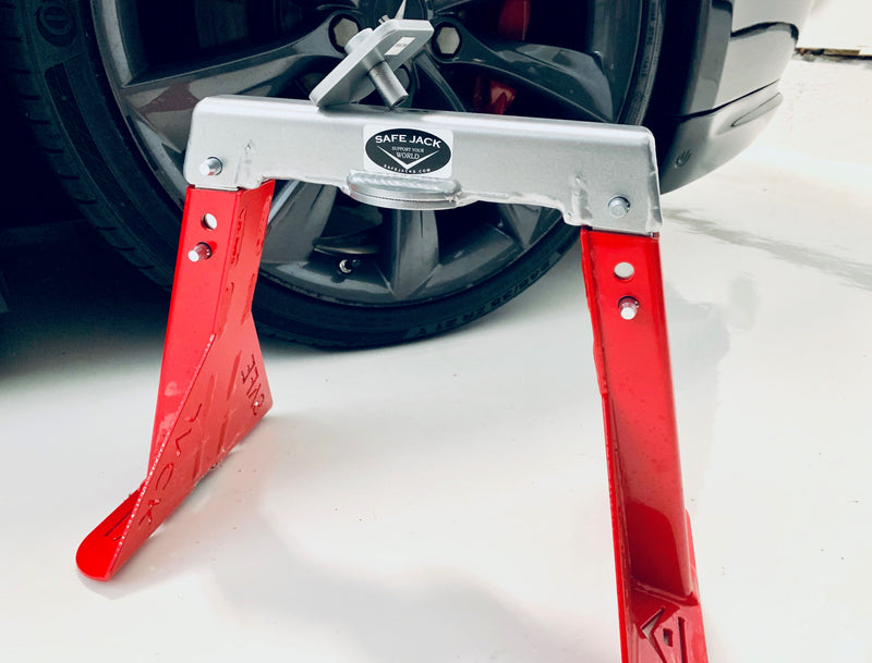 "Racing Red Edition Tesla ""Safe Jack"" for your Model S, 3, X"