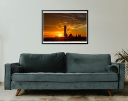 "SpaceX Starship Exclusive ""Sunset over Starship"" Print (16x20 Limited)"