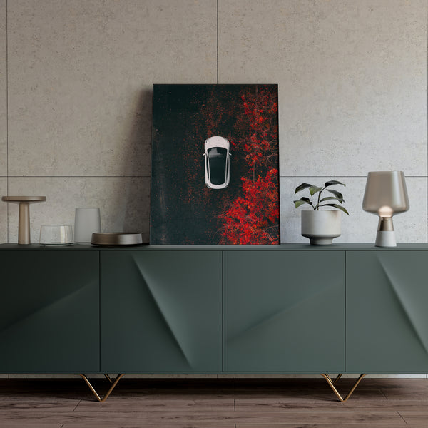 "Tesla Model 3 Print - ""Seasons"" in 16""x20"""