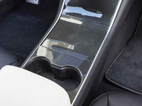 Tesla Model 3 & Y Center Console Cover (Carbon Fiber)