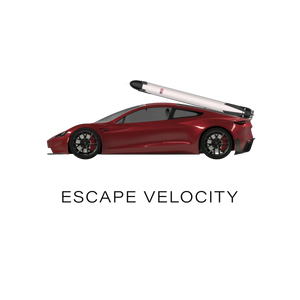"""Escape Velocity"" Premium Tee (Red Roadster)"