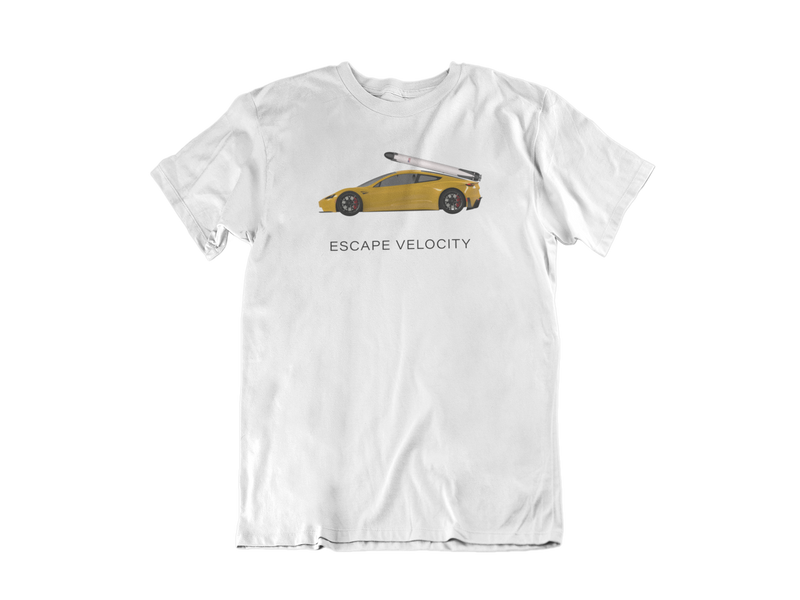 """Escape Velocity"" Premium Tee (Yellow Roadster)"
