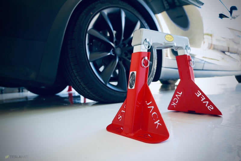 "Racing Red Edition Tesla ""Safe Jack"" for your Model S, 3, X, Y"