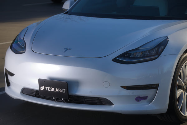 "Tesla Model 3 Front License Plate Bracket (2nd-GEN ""Touchless"", NO Drill, NO Tape)"
