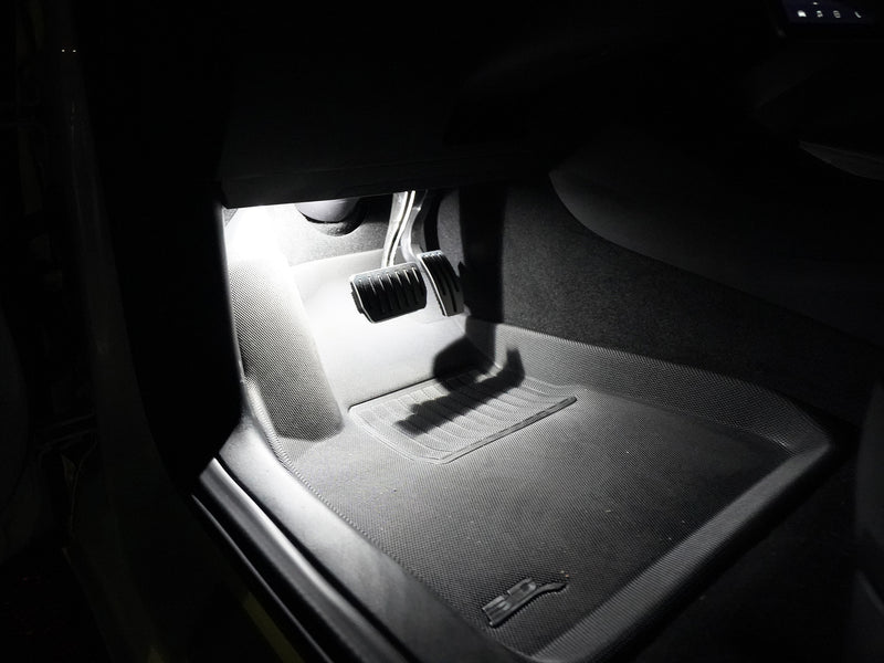 Tesla Model 3 driver's footwell LED