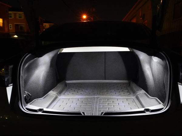 Tesla Model 3 interior trunk LED