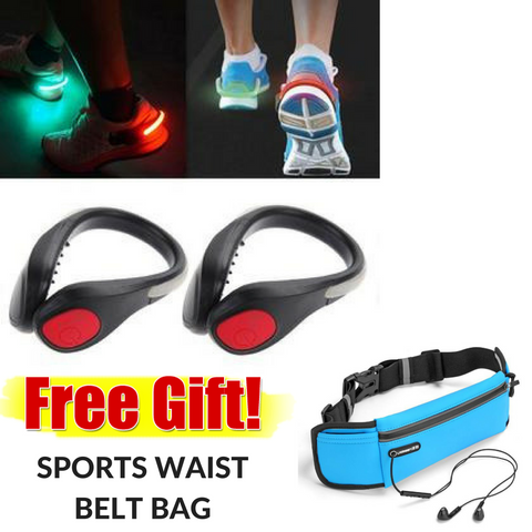 Light UP! Safety LED Shoe Clips (1 pair)