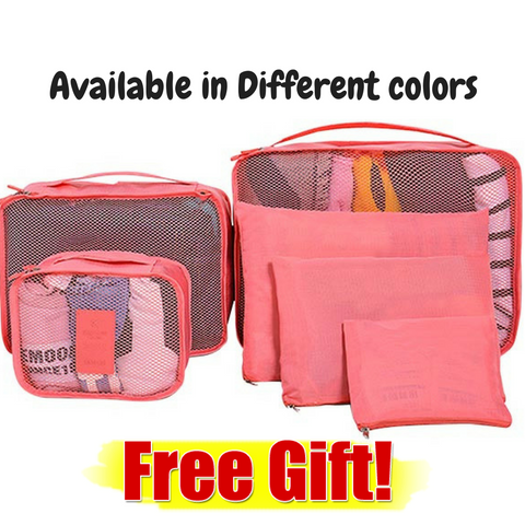 6 in1 Travel Pouch Clothes Organizer