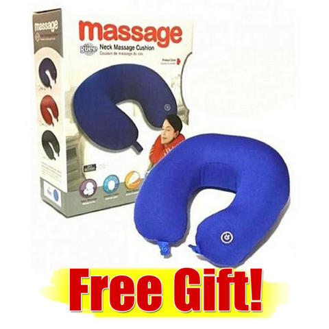 Portable Vibrating Massage Pillow: ( MADE IN U.S.A.)