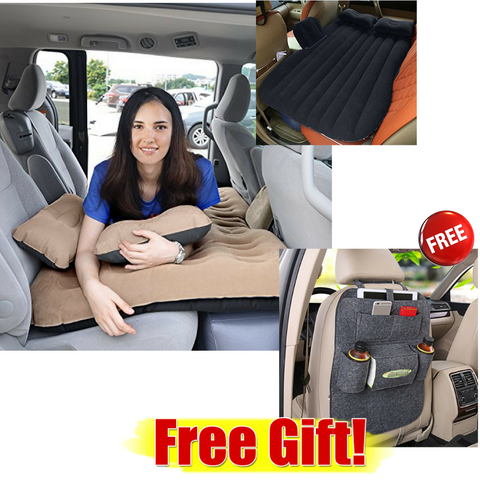Inflatable Car AirBed with Freebies (MADE IN U.S.A,)
