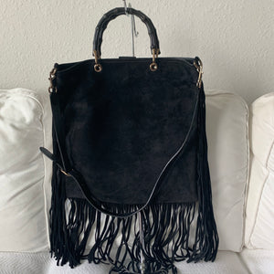 Gucci Suede Fringe Bag
