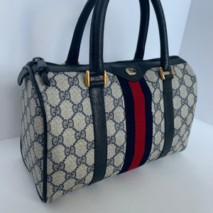 Gucci navy blue Ophidia Boston Bag
