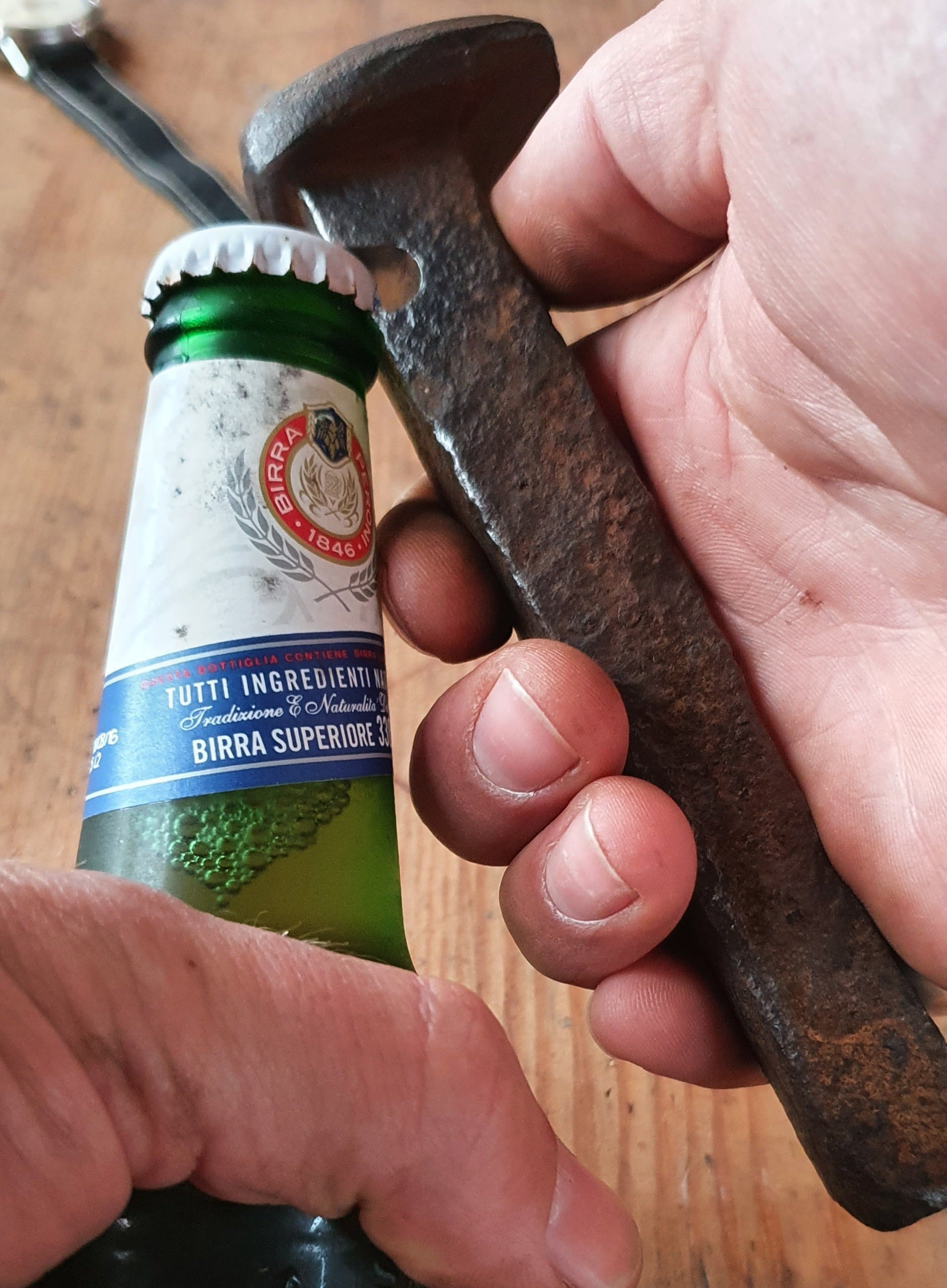 Railway Spike Bottle Opener