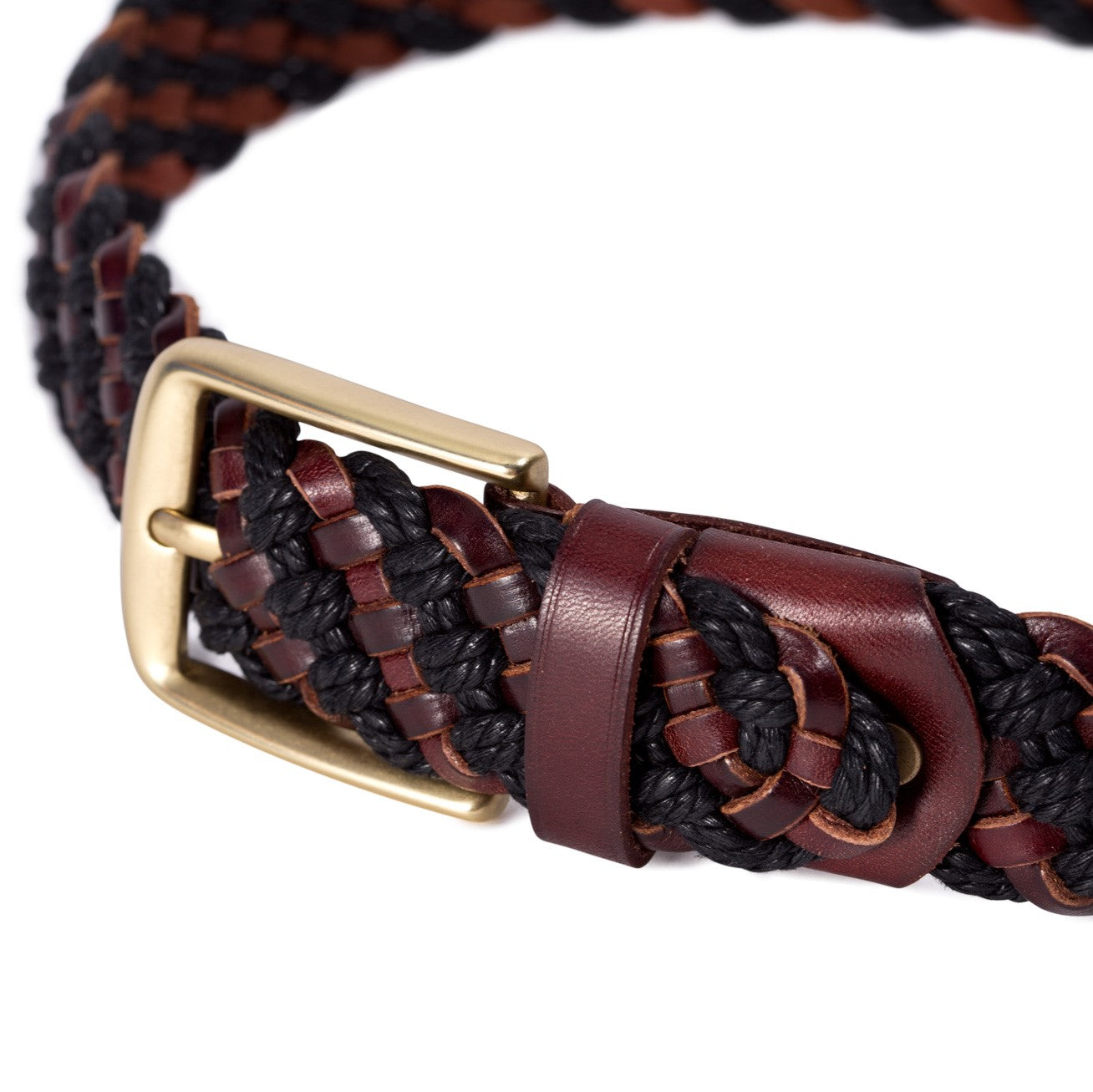 Woven Belt Black/Brown