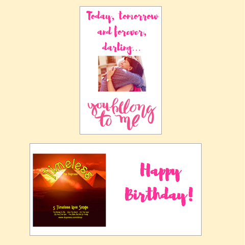 Cd greeting cards the duprees collection you belong to me cd greeting card happy birthday m4hsunfo