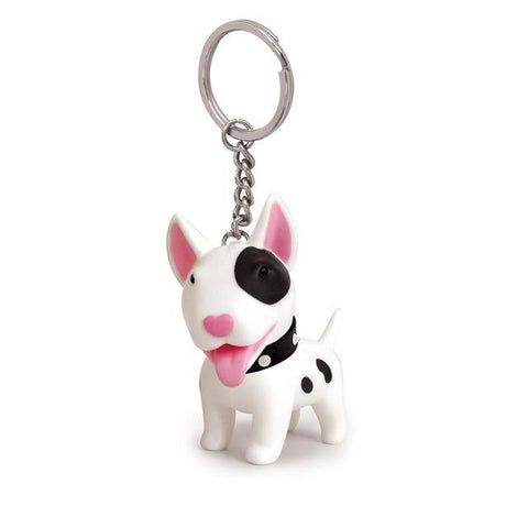 Heart Shaped Nose Bull Terrier Keychain - Elly Shopping