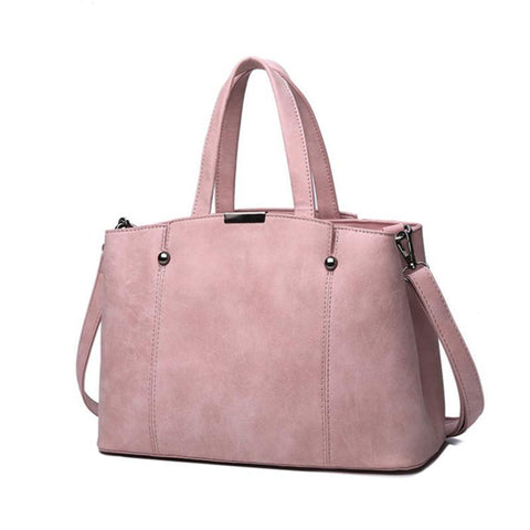 Leather Women Top Handle Bags - Elly Shopping