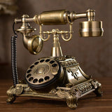 Telephone Swivel Plate Rotary Dial Telephone Antique - Elly Shopping