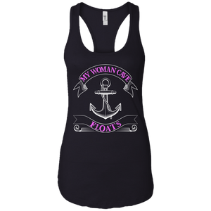 My Woman Cave Floats  - Ladies Fishing Tank Top