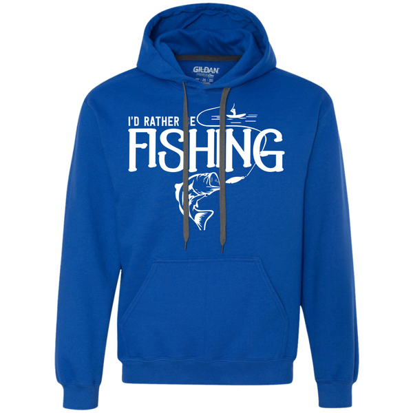 I'd Rather Be Fishing - Heavyweight Pullover Fleece Sweatshirt