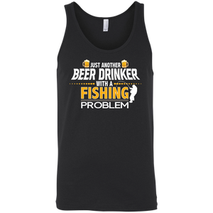 Just Another Beer Drinker With A Fishing Problem Funny Fishing Tank Top Black