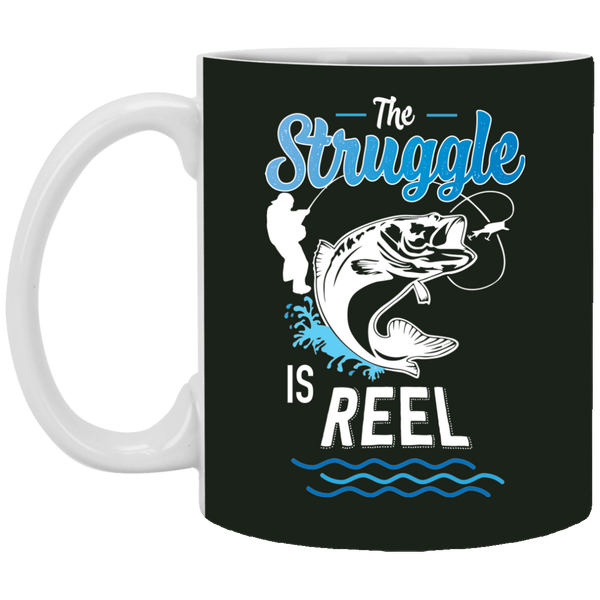 The Struggle Is Reel Fishing Coffee Mug