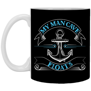 My Man Cave Floats 11 oz. Mug