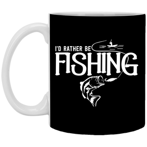 I'd Rather Be Fishing - 11 oz. Mug