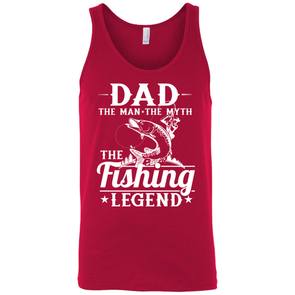 Dad The Man The Myth The Fishing Legend Fishing Tank Top Red