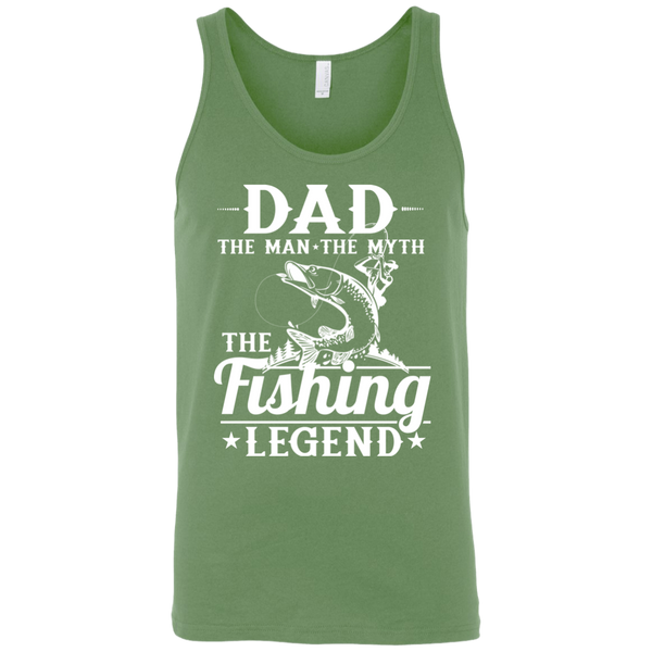 Dad The Man The Myth The Fishing Legend Fishing Tank Top Green