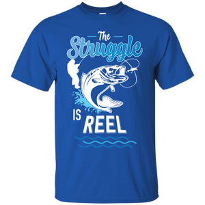 Funny Fishing Shirt The Struggle Is Reel Royal Blue