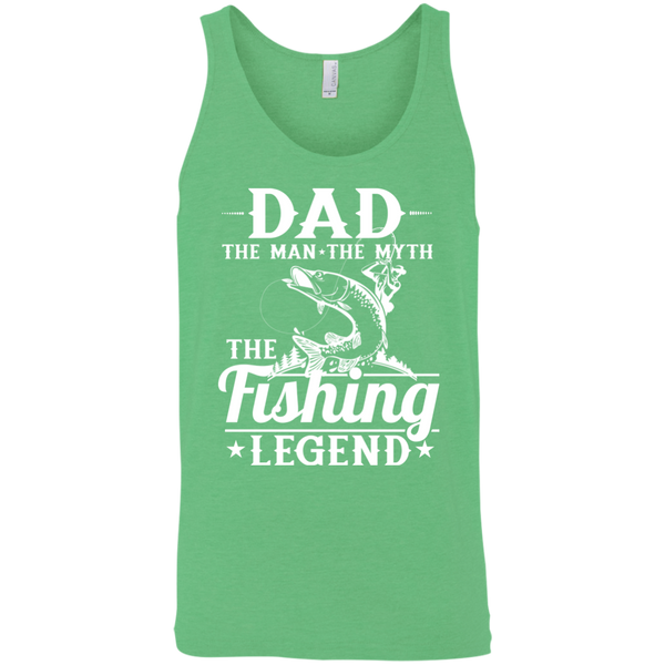 Dad The Man The Myth The Fishing Legend Fishing Tank Top