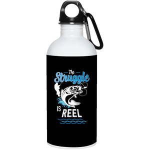 The Struggle Is Reel Stainless Steel Water Jug Black