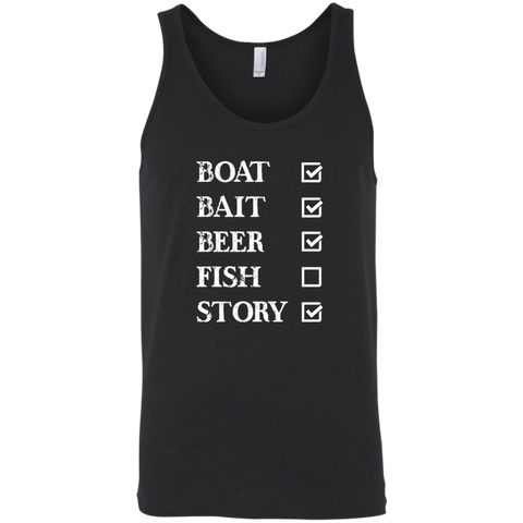 Fishing Checklist Funny Fishing Tank Top
