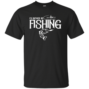 I'd Rather Be Fishing - Unisex Fishing T-shirt