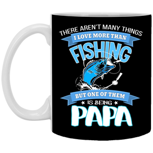 Being Called Papa Fishing Mug - Black