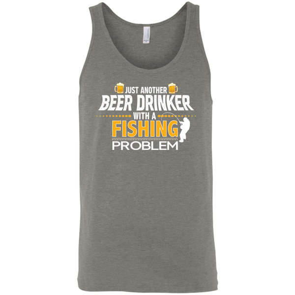 Just Another Beer Drinker With A Fishing Problem Funny Fishing Tank Top