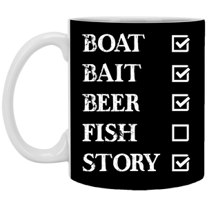 Fishing Checklist Funny  11 oz. Black  Fishing Mug