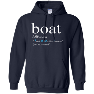 Boat Definition Funny Hoody Sweatshirt