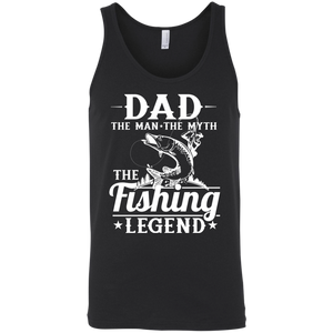 Dad The Man The Myth The Fishing Legend Fishing Tank Top black