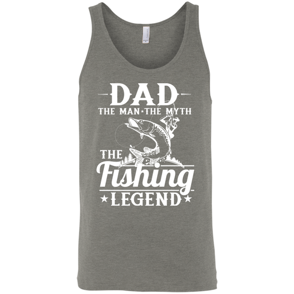 Dad The Man The Myth The Fishing Legend Fishing Tank Top Slate Grey