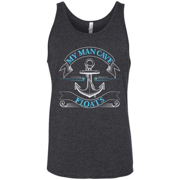 My Man Cave Floats - Funny Boating Fishing Tank Top