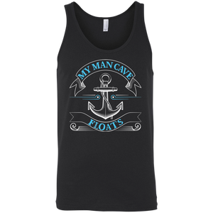 My Man Cave Floats - Funny Boating Fishing Tank Top Black