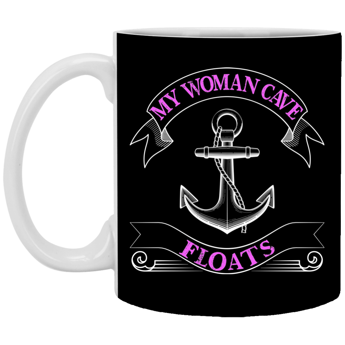 My Woman Cave Floats -11 oz. Mug